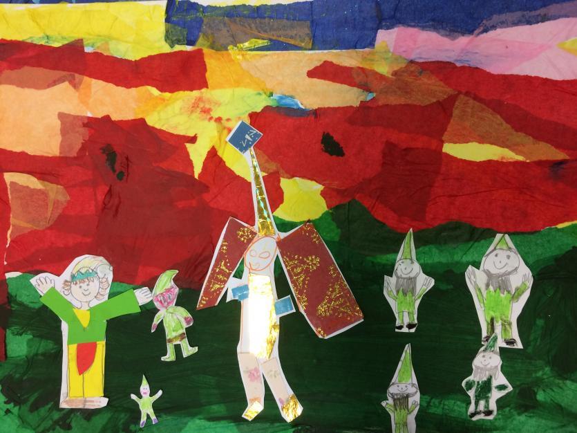 The Piskeys and the Moormen , Blisland School Illustration