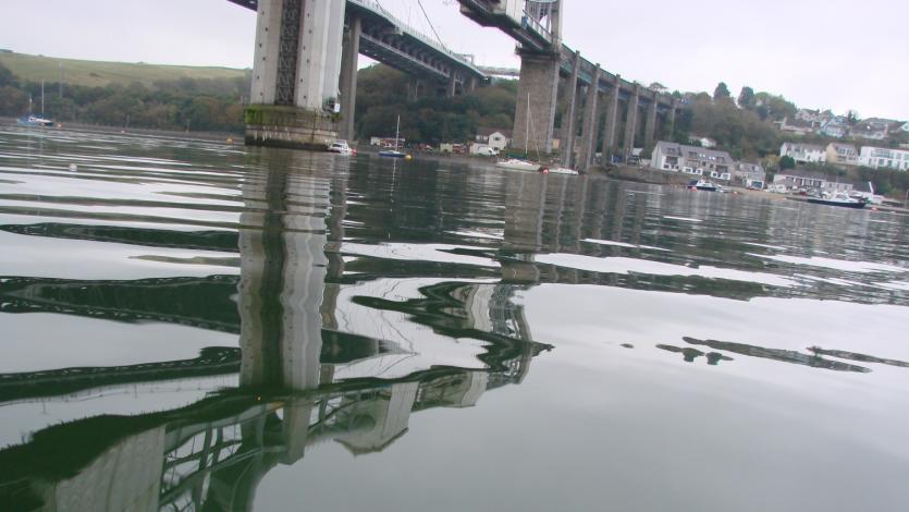 River Tamar under Tamar Bridge